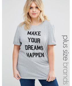 One Day Plus | Футболка С Принтом Make Your Dreams Happen