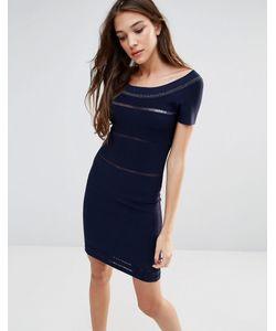 Lavand.   Черное Облегающее Платье Lavand Темный Синий