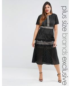 Truly You | Кружевное Платье Миди Черный