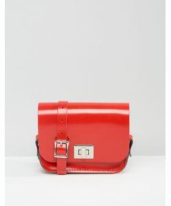 Leather Satchel Company   Сумочка Через Плечо The Лакированная Красного Цвета