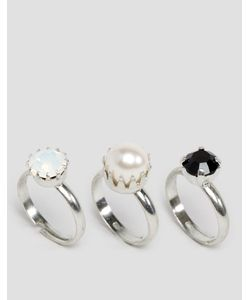 Krystal | 3 Кольца С Кристаллами Swarovski
