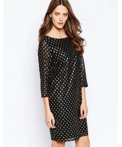 ICHI | Платье В Горошек Металлик С Высокой Горловиной Brook Черный