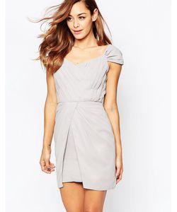 VLabel London | Платье Мини С Открытыми Плечами Vlabel Bayliss Серый