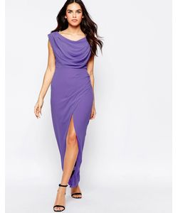 VLabel London | Платье Макси С Разрезом Vlabel Priory Сиреневый