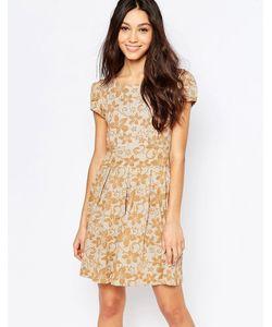 Mela Loves London | Платье С Цветочным Узором И Короткими Рукавами