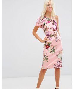 Asos | Платье Миди С Цветочным Принтом Принт