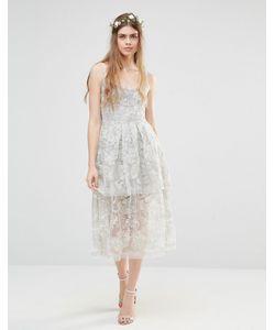 Body Frock | Многослойное Платье Wedding Freesia Серебряный