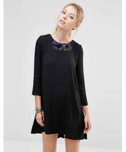 See U Soon | Цельнокройное Платье С Отделкой В Виде Ожерелья