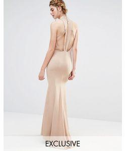 JARLO | Свадебное Платье Макси С Высокой Горловиной И Отделкой Спинки