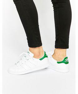 Adidas | Бело-Зеленые Кроссовки Originals Stan Smith Белый