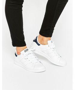 Adidas | Бело-Синие Кроссовки Originals Stan Smith
