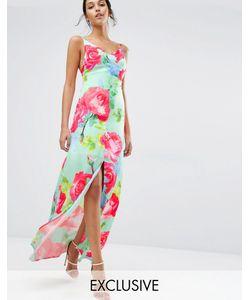 Every Cloud | Платье Макси На Бретельках С Цветочным Принтом Многоцветный