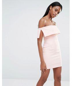 MISSGUIDED | Облегающее Платье Мини С Открытыми Плечами Blush