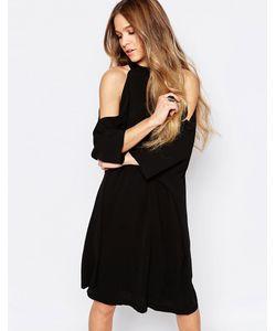 Liquorish | Платье Миди С Открытыми Плечами Черный