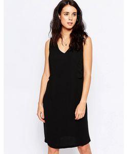 ICHI | Цельнокройное Платье С Глубоким V-Образным Вырезом Cameo Brown
