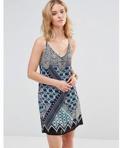 Style London | Платье На Бретельках С Калейдоскопным Принтом Синий