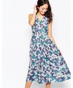 Closet | Платье Миди С Перекрестным Кроем Спереди И Цветочным Принтом