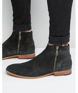 WALK London | Замшевые Ботинки На Молнии Giles Черный