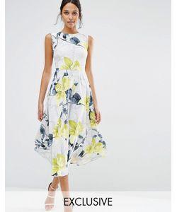 Every Cloud   Платье С Заниженной Талией И Цветочным Принтом Многоцветный