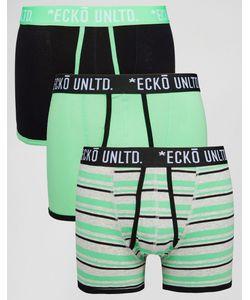Ecko | 3 Зеленых Боксеровбрифов Зеленый