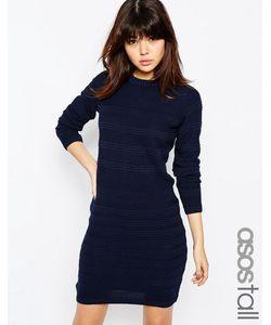 ASOS TALL | Приталенное Платье С Эластичной Талией Темно-Синий