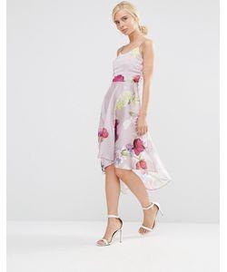Hope and Ivy   Приталенное Платье С Цветочным Принтом Розовый
