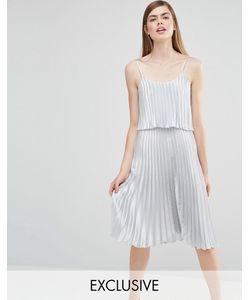 True Violet | Платье Миди 2 В 1 Серебристо-Серый