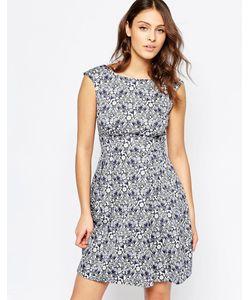 Closet   Расклешенное Платье С V-Образным Вырезом На Спине И Принтом Чертополох