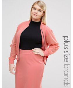 Pink Clove | Куртка-Пилот С Прозрачными Рукавами Розовый