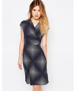 Uttam Boutique | Трикотажное Платье В Горошек Темно-Синий