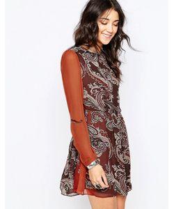 Glamorous | Короткое Приталенное Платье Dark Brown