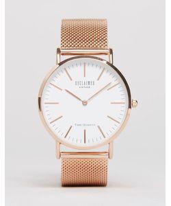 Reclaimed Vintage | Классические Часы Цвета Розового Золота