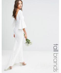 Jarlo Tall | Платье Макси С Пуговицами Сзади И Рукавами-Колокол