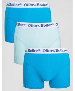 Oiler & Boiler | 3 Боксеров-Брифов Синий