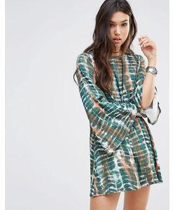 Rokoko | Свободное Платье С Рукавами-Колокол И Глубоким Вырезом Сзади Мульти
