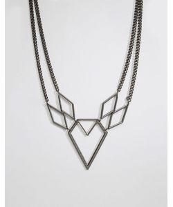 Pilgrim | Ожерелье Геометрической Формы Gunmetal