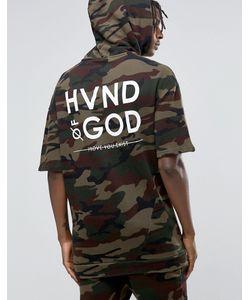 Hand of God | Худи С Камуфляжным Принтом И Короткими Рукавами