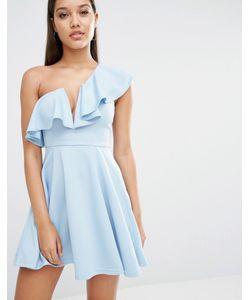 Rare   Приталенное Платье London Голубой Лед