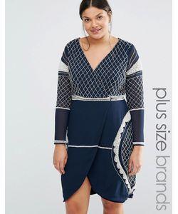 Lovedrobe Luxe | Платье Мини С Глубоким Вырезом И Бисерной Отделкой