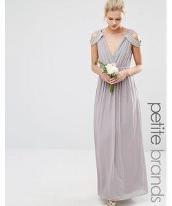 TFNC Petite | Платье Макси С Открытыми Плечами И Запахом Wedding