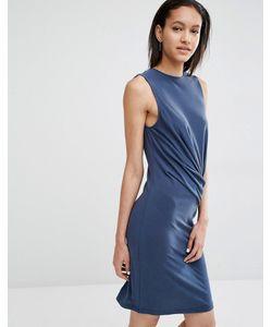 Just Female | Облегающее Платье С Драпировкой Carey Синий