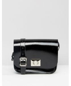 Leather Satchel Company   Сумочка Через Плечо The Лакированный Черный