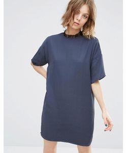 First & I | Цельнокройное Платье С Высоким Кружевным Воротом India