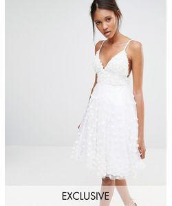 A Star Is Born | Платье С Объемной Декоративной Отделкой Белый