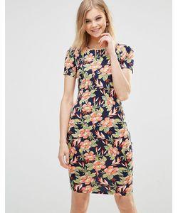 Poppy Lux | Трикотажное Облегающее Платье С Принтом Orianna