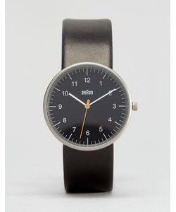 Braun | Классические Часы С Черным Кожаным Ремешком И Циферблатом Черный
