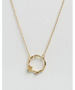 Bill Skinner | Ожерелье С Кольцом Цветами И Пчелой Золотой