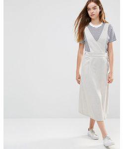 Shades of Grey | Платье С V-Образным Вырезом Светло-Серый В Елочку
