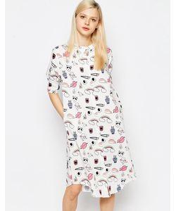 The WhitePepper | Платье-Рубашка С Круглым Воротником