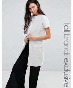 ADPT Tall | Приталенный Пиджак Без Рукавов На Одной Пуговице Серый